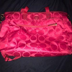 """Coach diaper bag with bonus """"mom bag"""""""